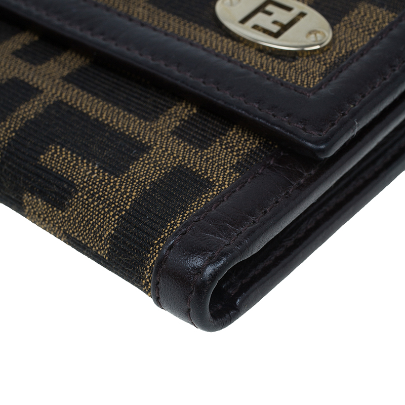 Fendi Brown Zucca Canvas Wallet