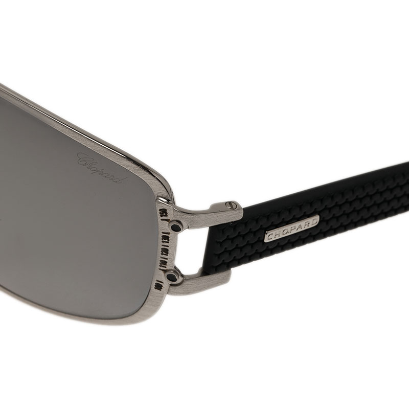 Chopard Silver and Black SCH905 Sunglasses