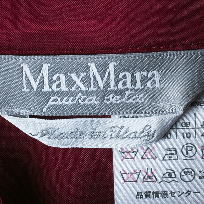 Max Mara Plum Button Down Silk Shirt M