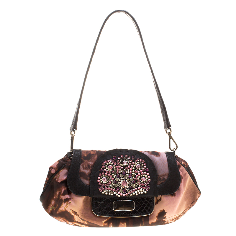 c7df0289ebc8 ... shop prada multicolor nylon crystal embellished shoulder bag. nextprev.  prevnext c3582 7445e