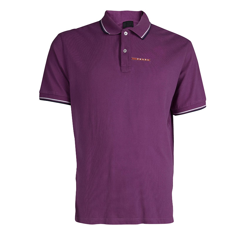 prada purple polo t shirt xxxl buy sell lc. Black Bedroom Furniture Sets. Home Design Ideas