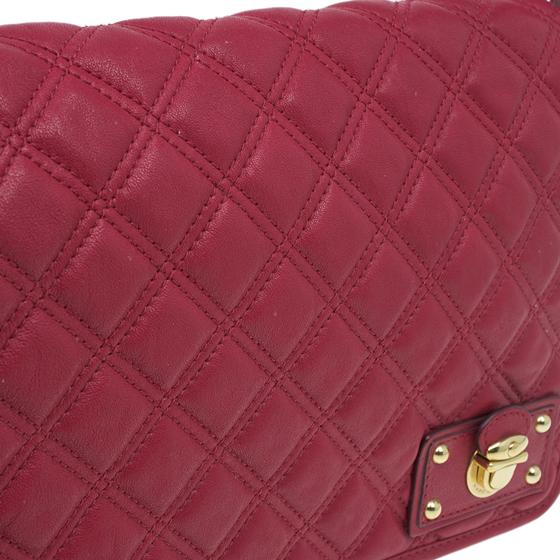 Marc Jacobs Red Quilted Leather Shoulder Bag