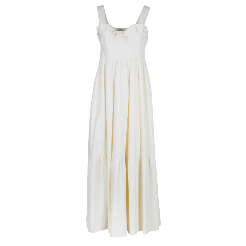Chloe Off-white Sleeveless Midi Dress M