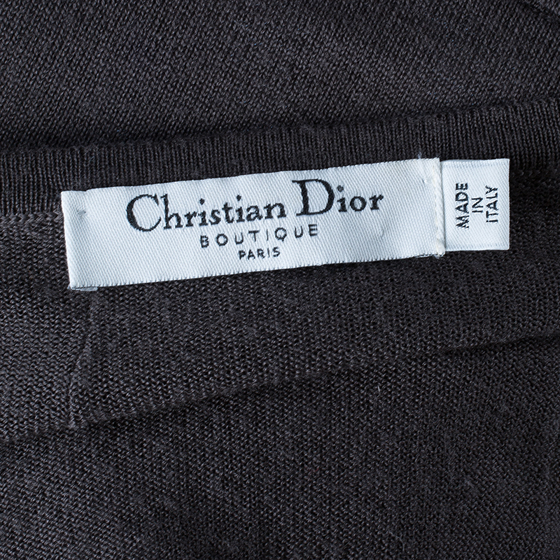 Dior Grey Taupe Wool Top S
