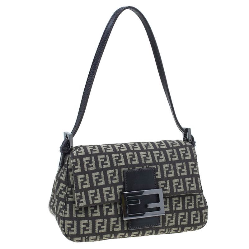Fendi Brown Zucchino Baguette Mini Mama Bag