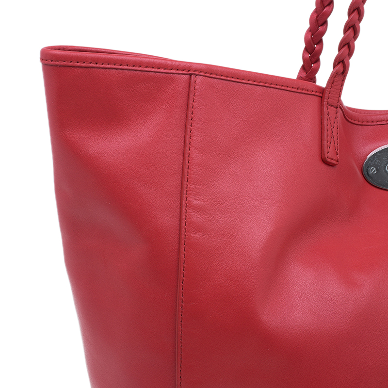 Mulberry Red Nappa Leather Medium Dorset Tote