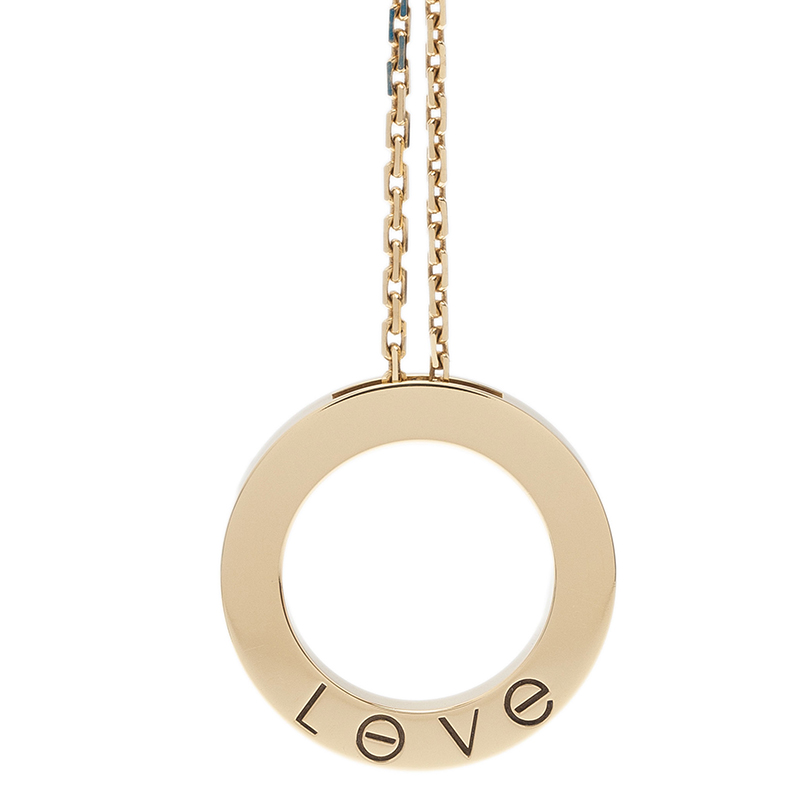 Cartier Love Diamond Rose Gold Pendant Necklace