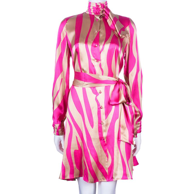 Issa London Silk Neck Tie Dress L