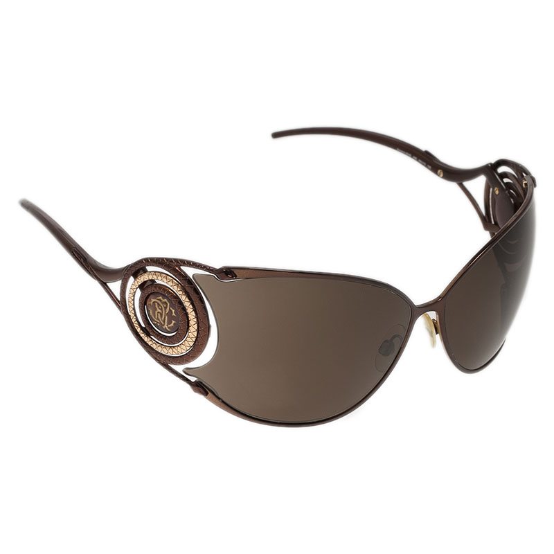 Roberto Cavalli Brown Zircone Sunglasses