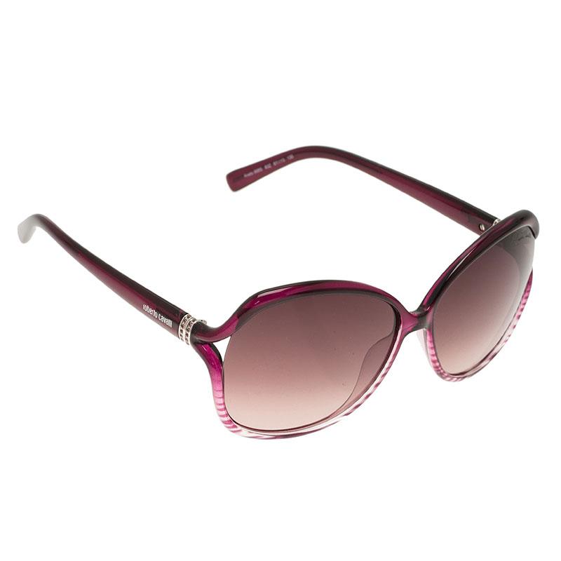 Roberto Cavalli Purple Aneto Square Sunglasses