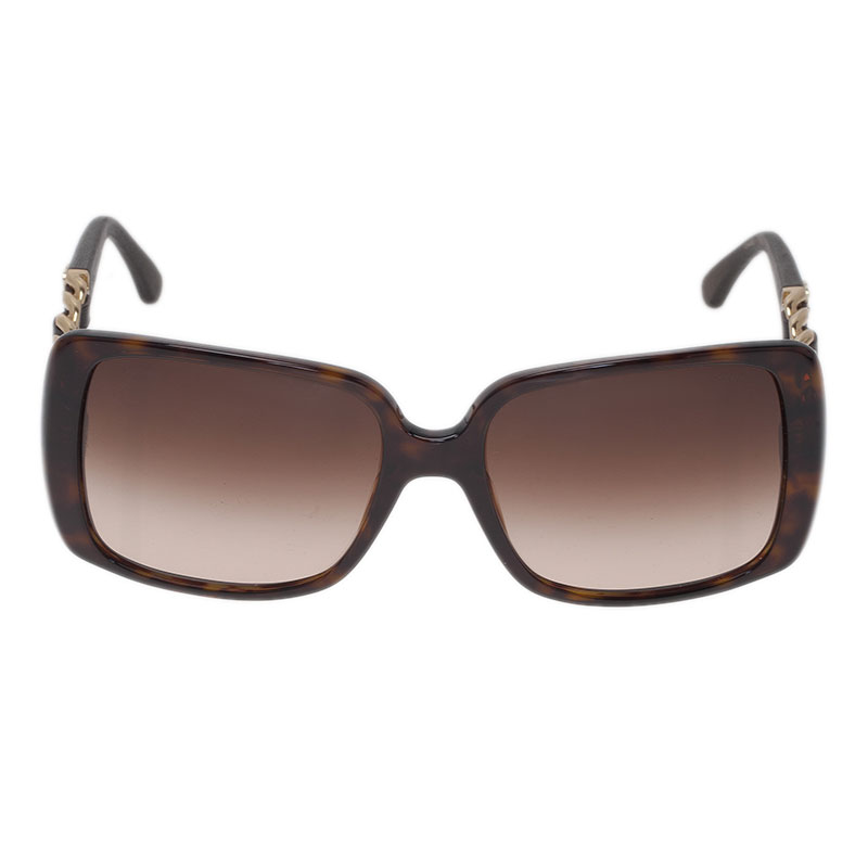 Chanel Brown 5208 Chain Link Square Sunglasses