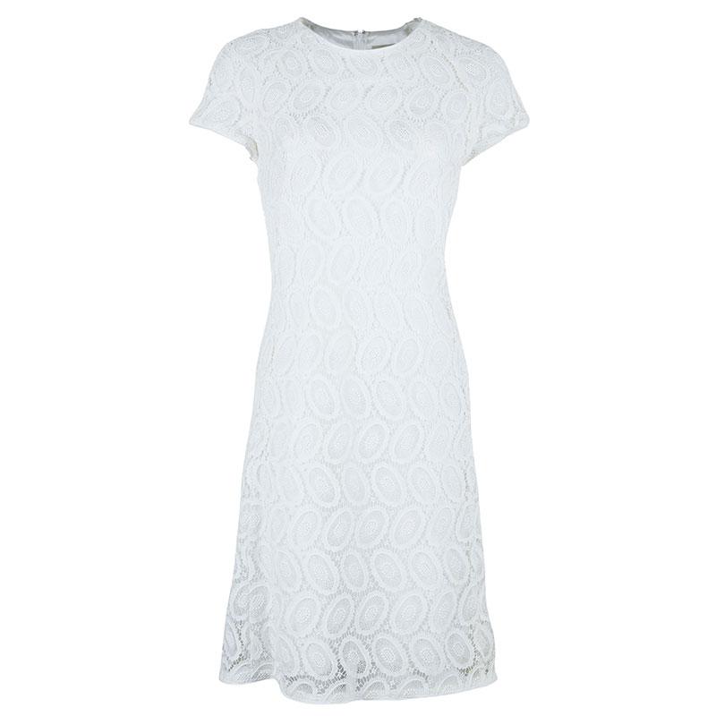 Burberry White Lace Dress M