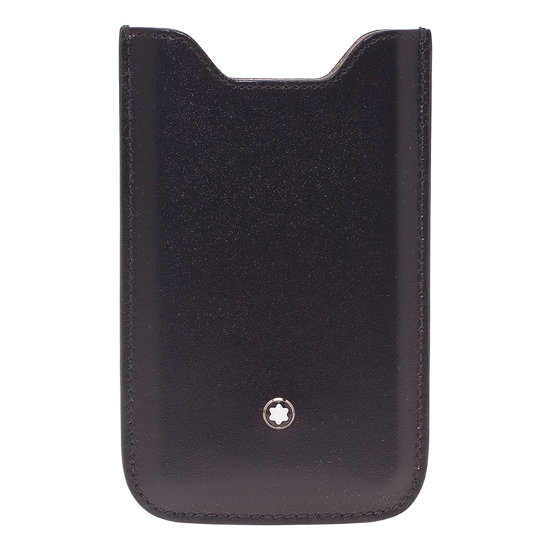 Montblanc Black Leather Meisterstuck iPhone 4/4S Case