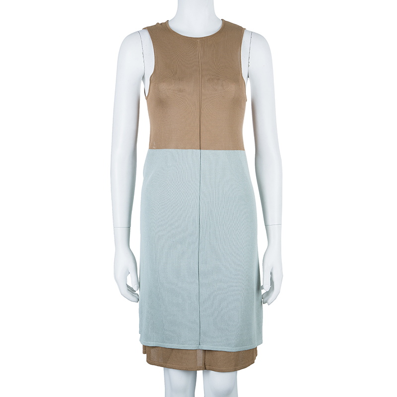 Balenciaga Colorblock Sleeveless Dress M