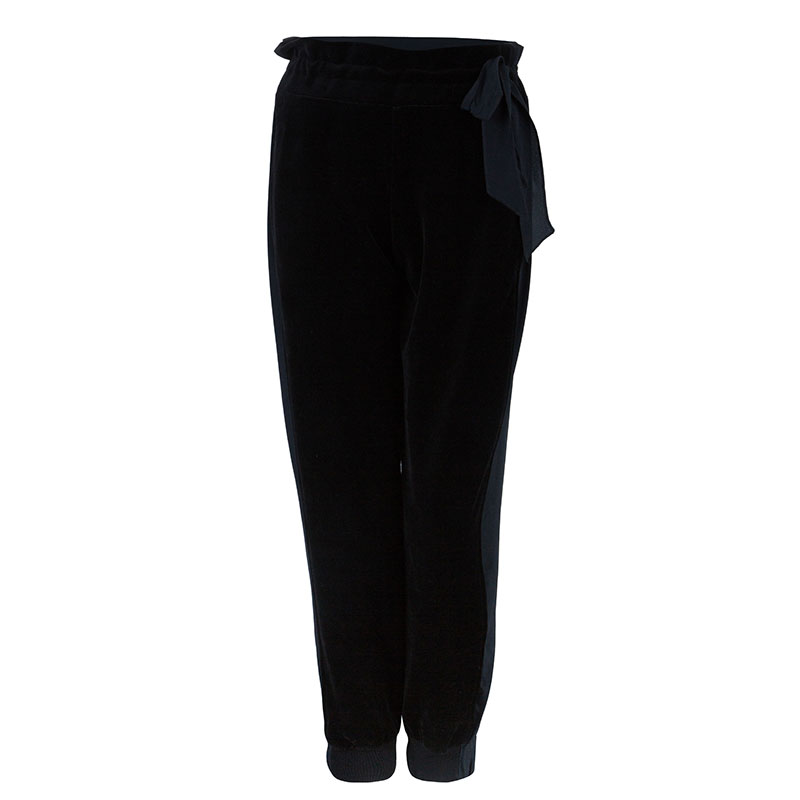 Sonia Rykiel Black Cuffed Trousers M