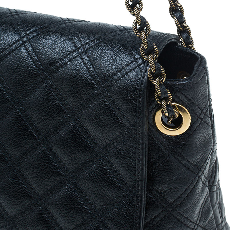 Marc Jacobs Black Quilted Leather XL Baroque Single Shoulder Bag