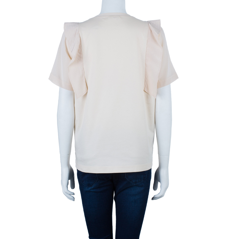Chloe Beige Cotton Top L