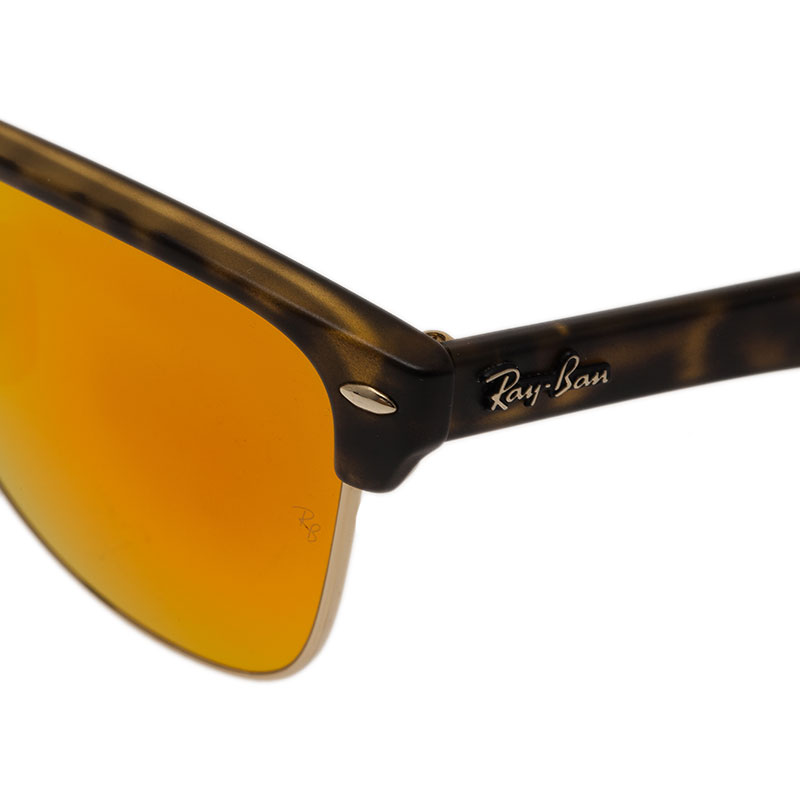 Ray Ban Orange RB4175 Clubmaster Oversized Sunglasses
