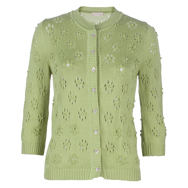 Valentino Green Knit Cardigan S