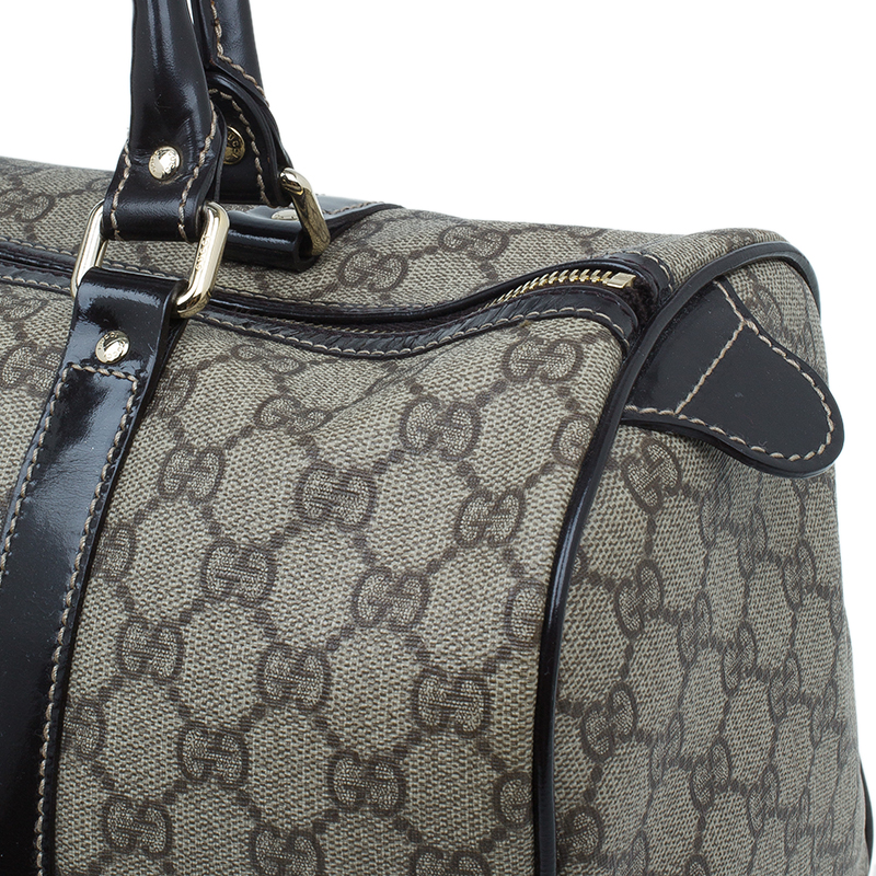 Gucci Beige Guccissima Coated Canvas Medium Joy Boston Bag
