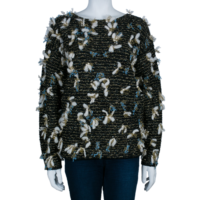 Chloe Lurex Metallic Knit Sweater S