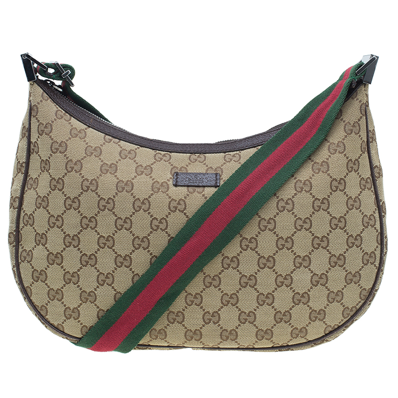 Gucci Beige Monogram Canvas Round Messenger Bag
