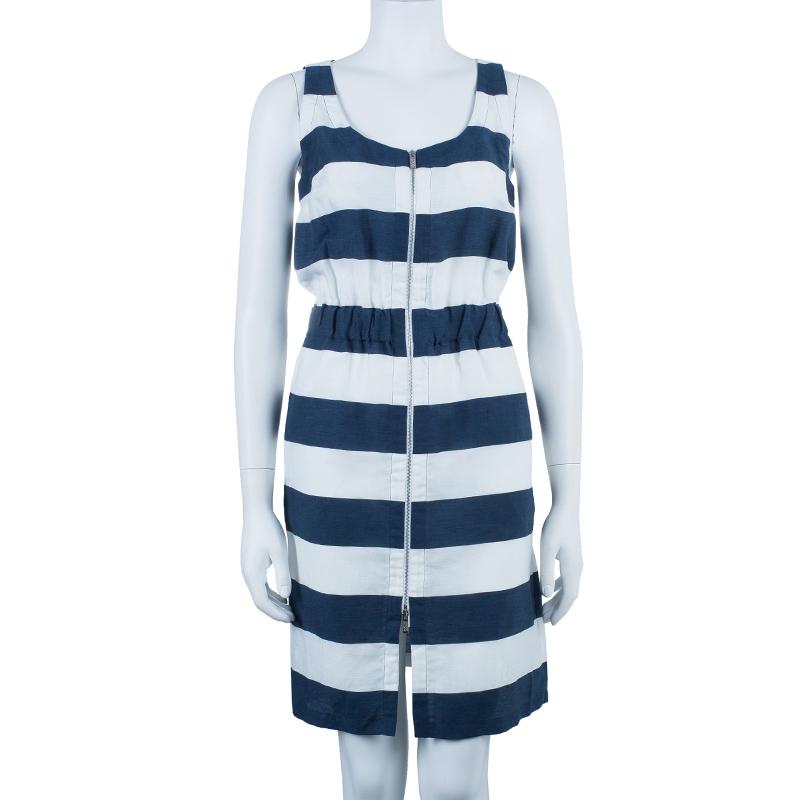 Armani Collezioni Nautical Zip Front Dress S