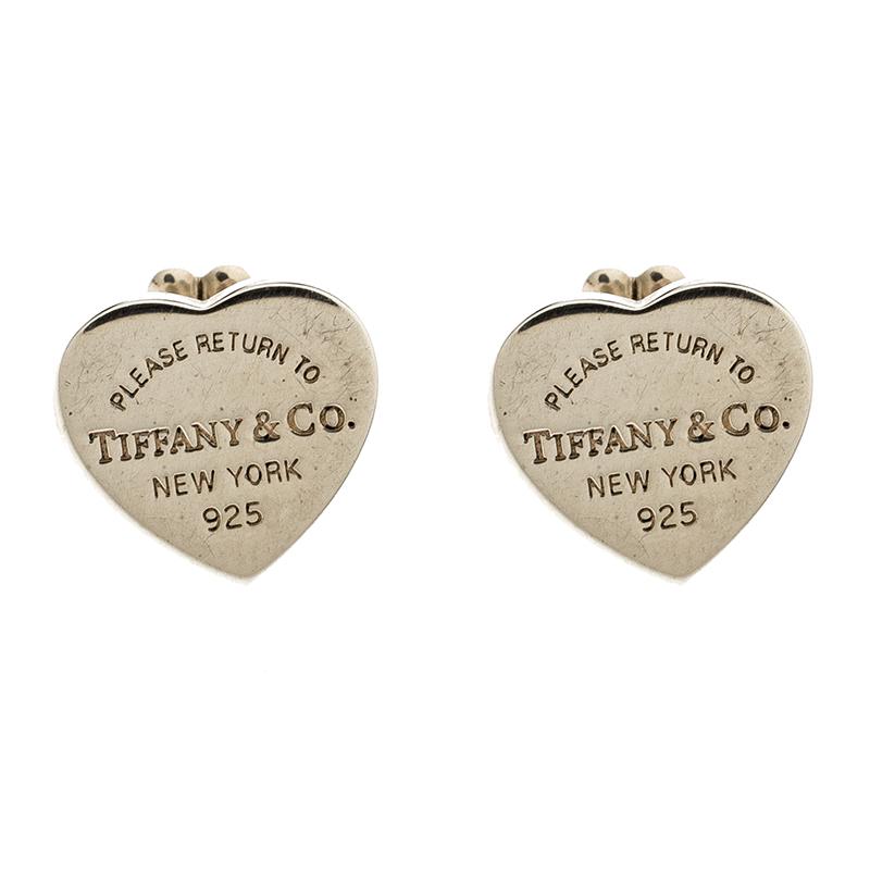 Return To Tiffany Mini Heart Tag Silver Stud Earrings Nextprev Prevnext