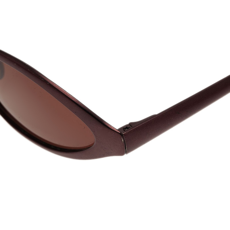 Prada Burgundy Oval SPR 66A Sunglasses