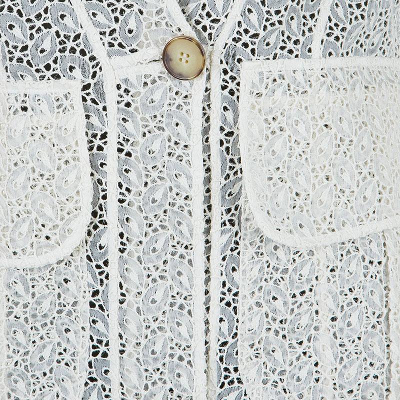 Emilio Pucci White Eyelet Jacket M