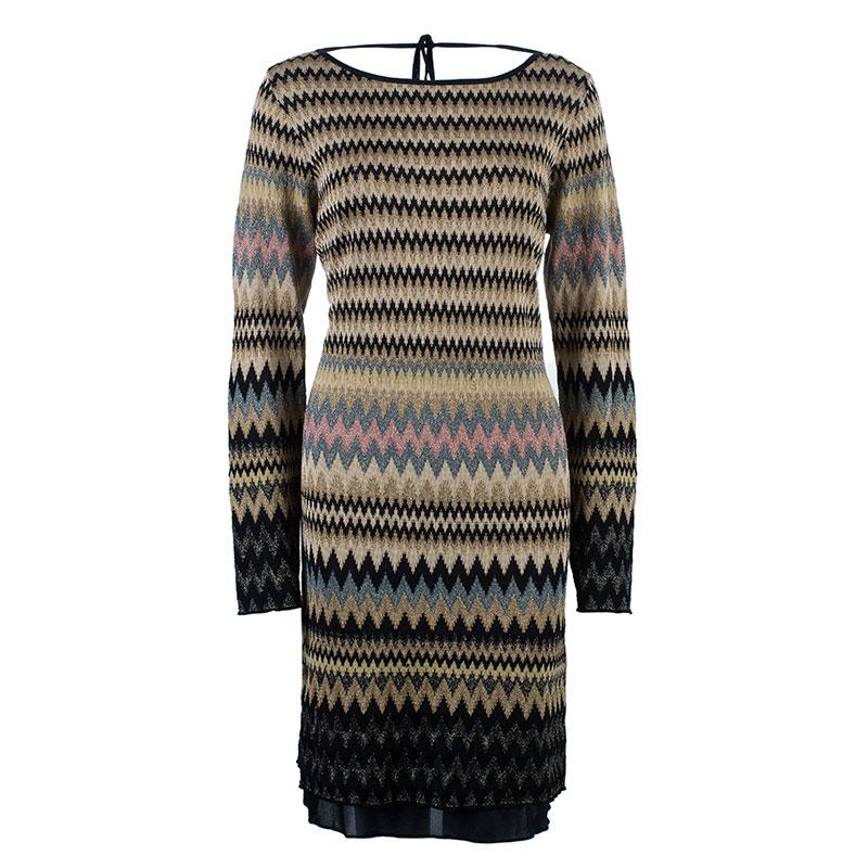 M Missoni Backless Zig-Zag Dress L