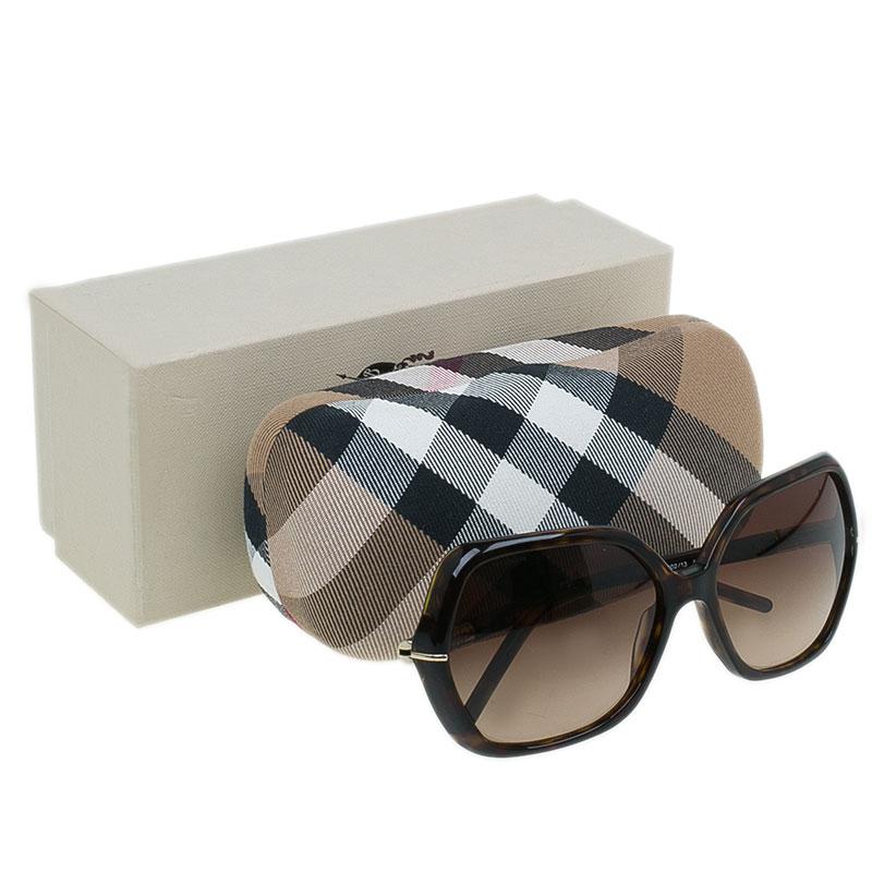 Burberry Tortoise Frame 4107 Oversized Square Sunglasses
