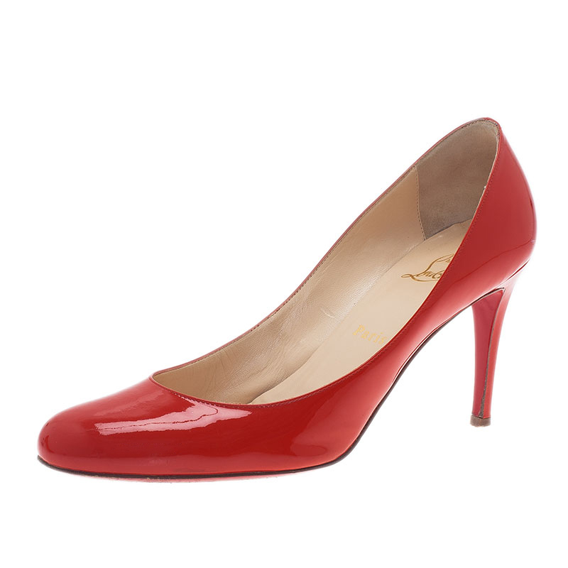 Christian Louboutin Red Patent Simple Pumps Size 39