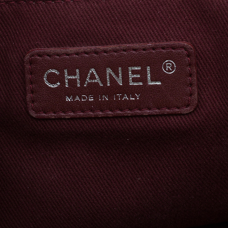 Chanel Red Caviar Quilted Leather Medium Tote Bag