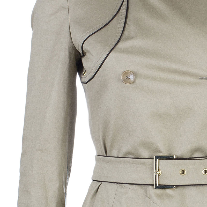 Stella McCartney Beige Belted Overcoat S