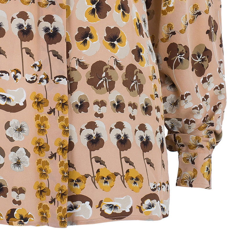 Gucci Pink Flower Print Top S