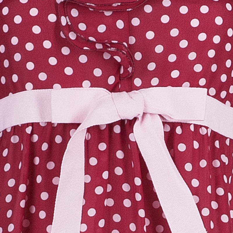 RED Valentino Polka Dot V-Neck Ruffle Dress S