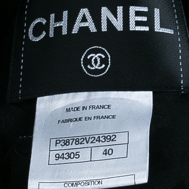 Chanel Black Metallic Trim Jacket M