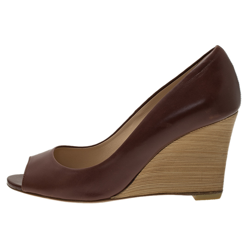 Brown Wedge Shoes Size