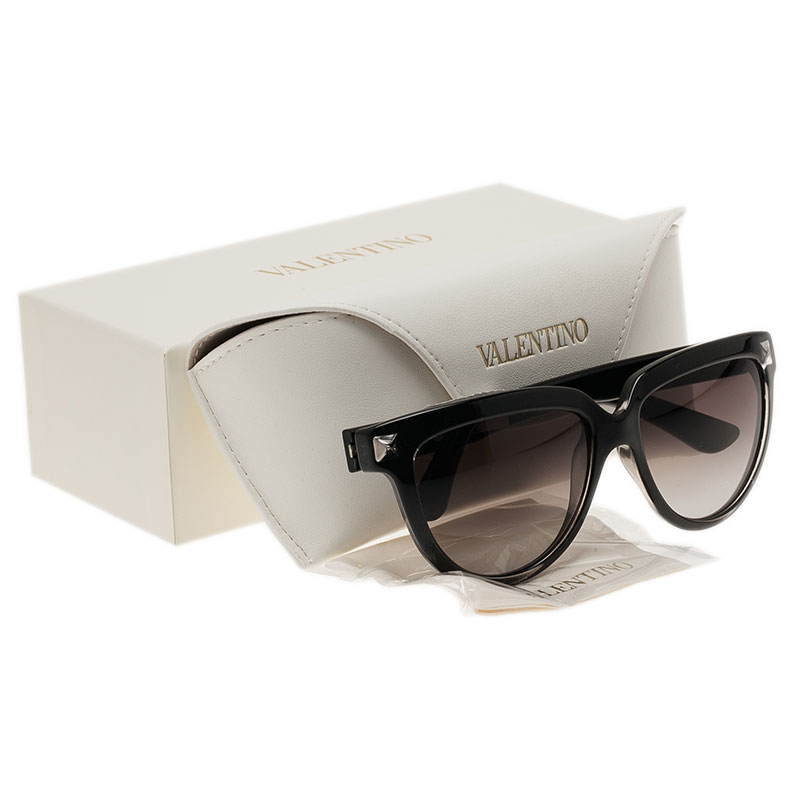 Valentino Black V724S Rockstud Cat Eye Sunglasses