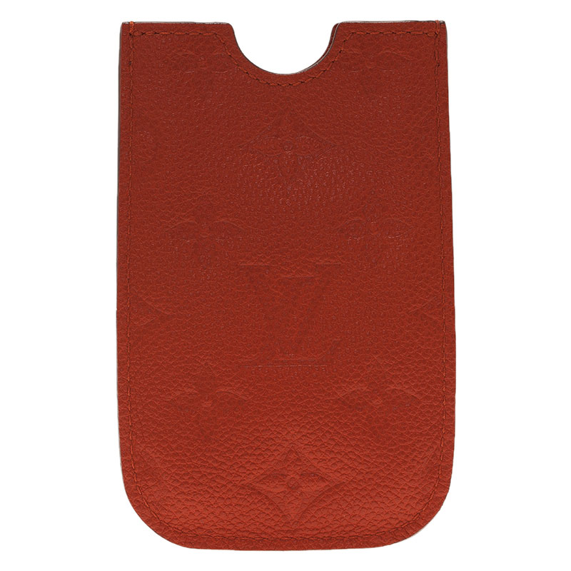 Louis Vuitton Orange Monogram Leather iPhone Case