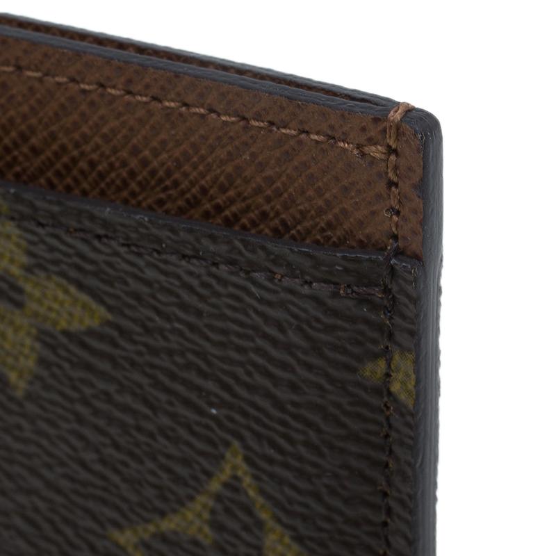 Louis Vuitton Brown Monogram Canvas Card Holder