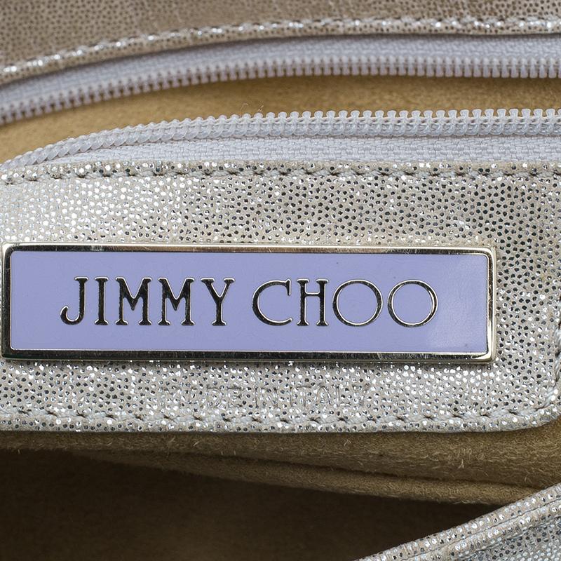 Jimmy Choo Metallic Gold Leather Tulita Pochette