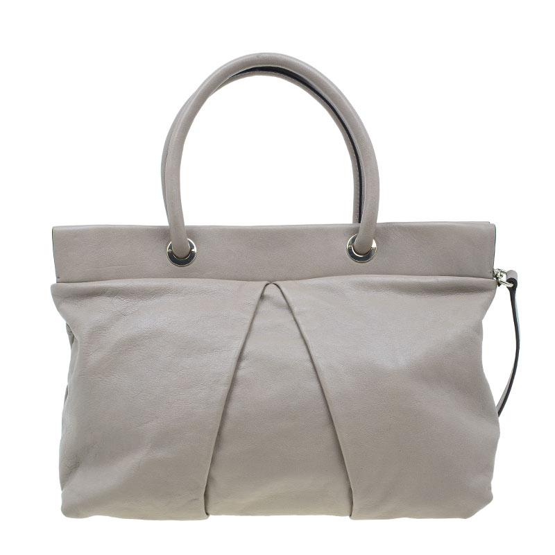 Marc by Marc Jacobs Grey Leather Marchive Tote Bag
