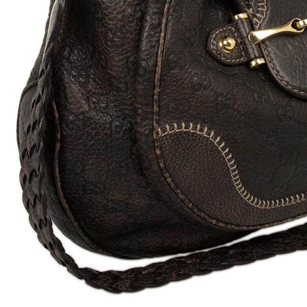 Gucci Brown Emily Guccissima Leather Hobo