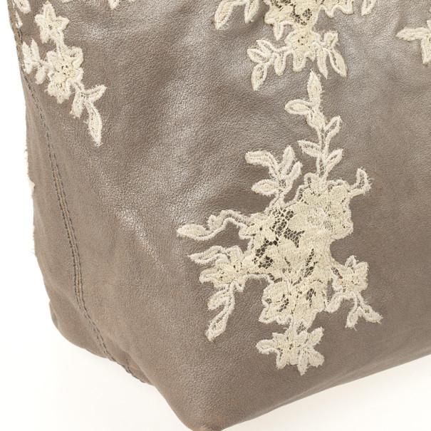 Valentino Garavani Leather Urban Lace Tote