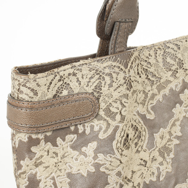 Valentino Garavani Leather Urban Lace Tote