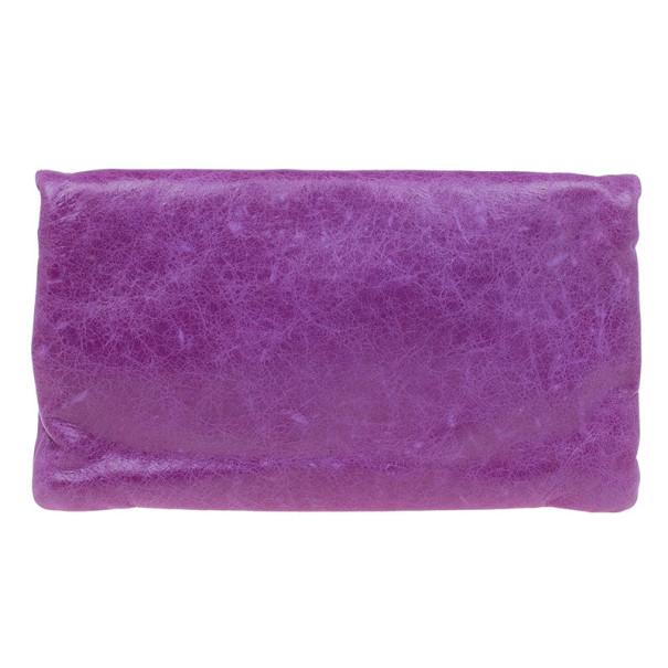 Balenciaga Purple Arena Giant Envelope
