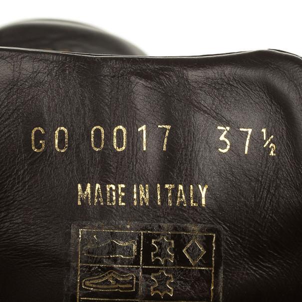 Louis Vuitton Brown Monogram Square Toe Sneakers Size 37.5