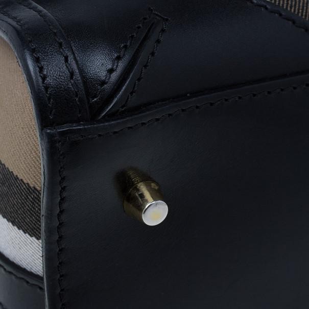 Burberry Medium Bridle House Check Bowling Bag
